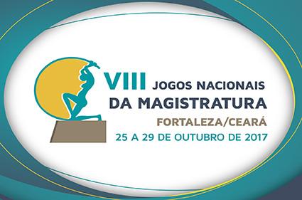 Logomarca dos VIII Jogos Nacionais da Magistratura