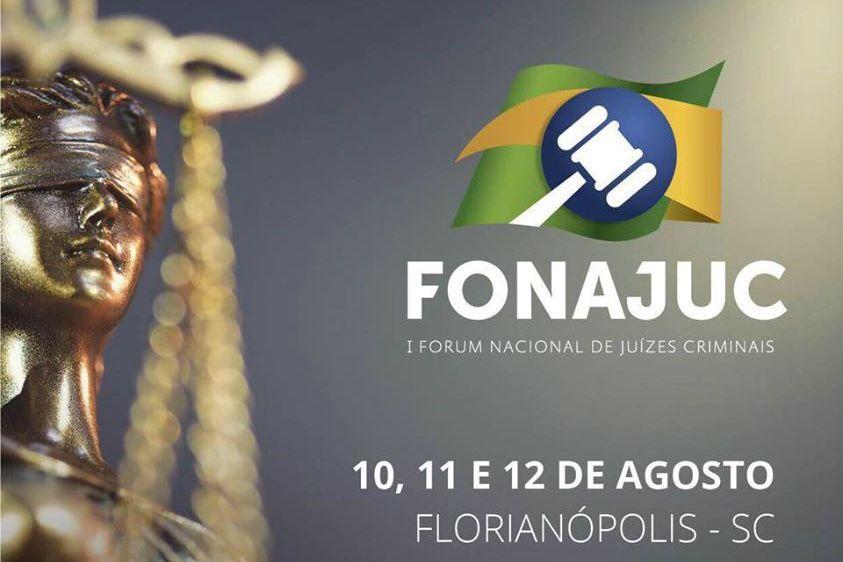 Cartaz de divulgação do I Fórum de Juízes Criminais.