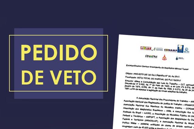 Arte com pedido de veto PLC 38/17
