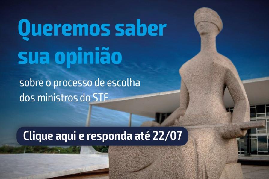 Imagem do STF com texto convidando para participar da enquete